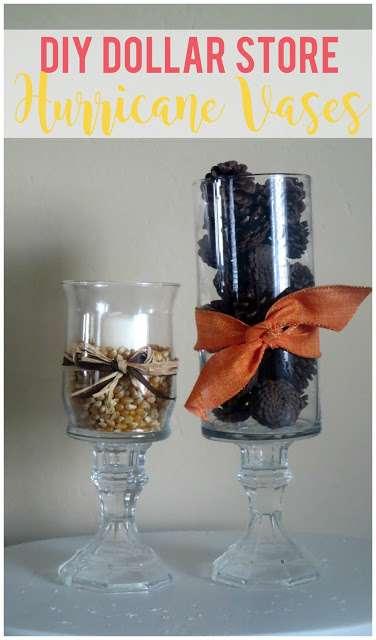 Diy Dollar Store Hurricane Vases Sunshine And Munchkins