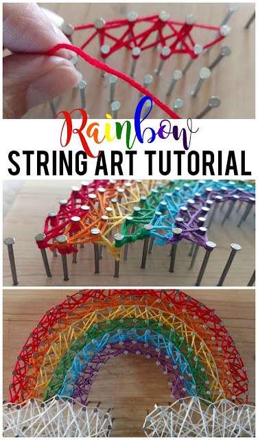 Rainbow String Art Tutorial Sunshine And Munchkins