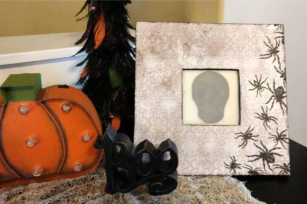Spooky Skull Framed Art