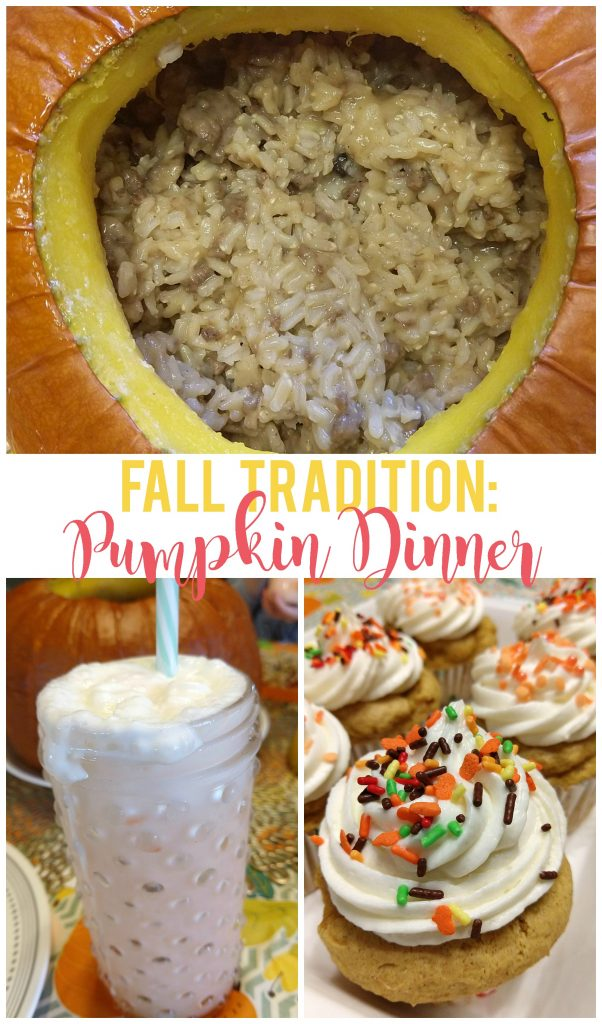 This pumpkin themed dinner is such a fun new tradition with my family!