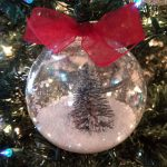 Dollar Tree Christmas Snow Globe Ornament
