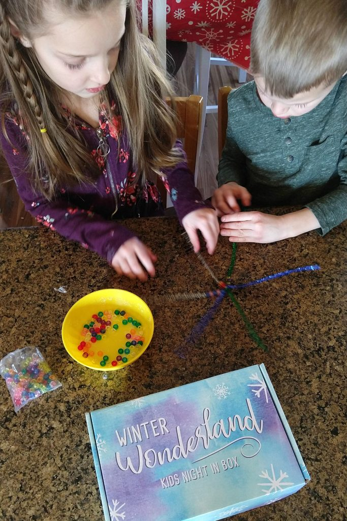 Winter is a magical wonderland for kids and we loved learning about snowflakes as part of this month's Kids Night In Box!