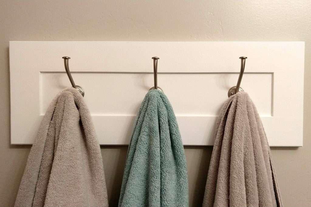DIY Cabinet Door Towel Rack