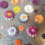Flower Button Magnets
