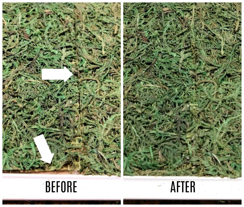 How to patch faux moss sheets