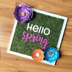 DIY Framed Faux Moss Spring Sign