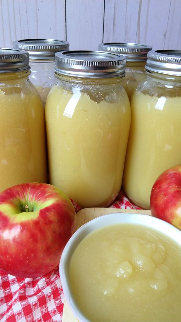 Learning how to bottle homemade applesauce is as simple as 1-2-3, because it literally only takes three ingredients! If you want to get into bottling or canning and you have no idea where to start, I would definitely recommend starting with applesauce.  It requires basic tools you already have at home or could borrow and is a great way to preserve a delicious and healthy food to use later on when apples aren't in season.