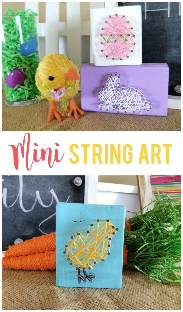Mini string art is a fun way to add style and dimension to your decorations, plus you can make them to fit any season or holiday!