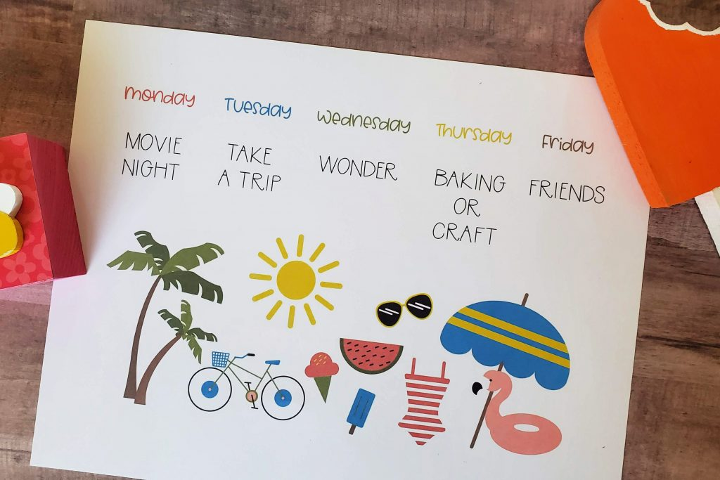 {Free} Summer Schedule Printable