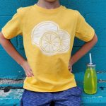 Freezer Paper Stencil Lemon Shirt