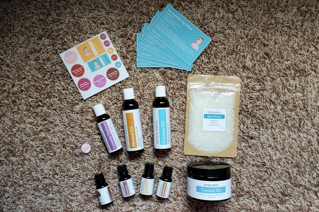 The Simply Earth recipe box is a great way to get introduced to essential oils and how you can use them in your home!