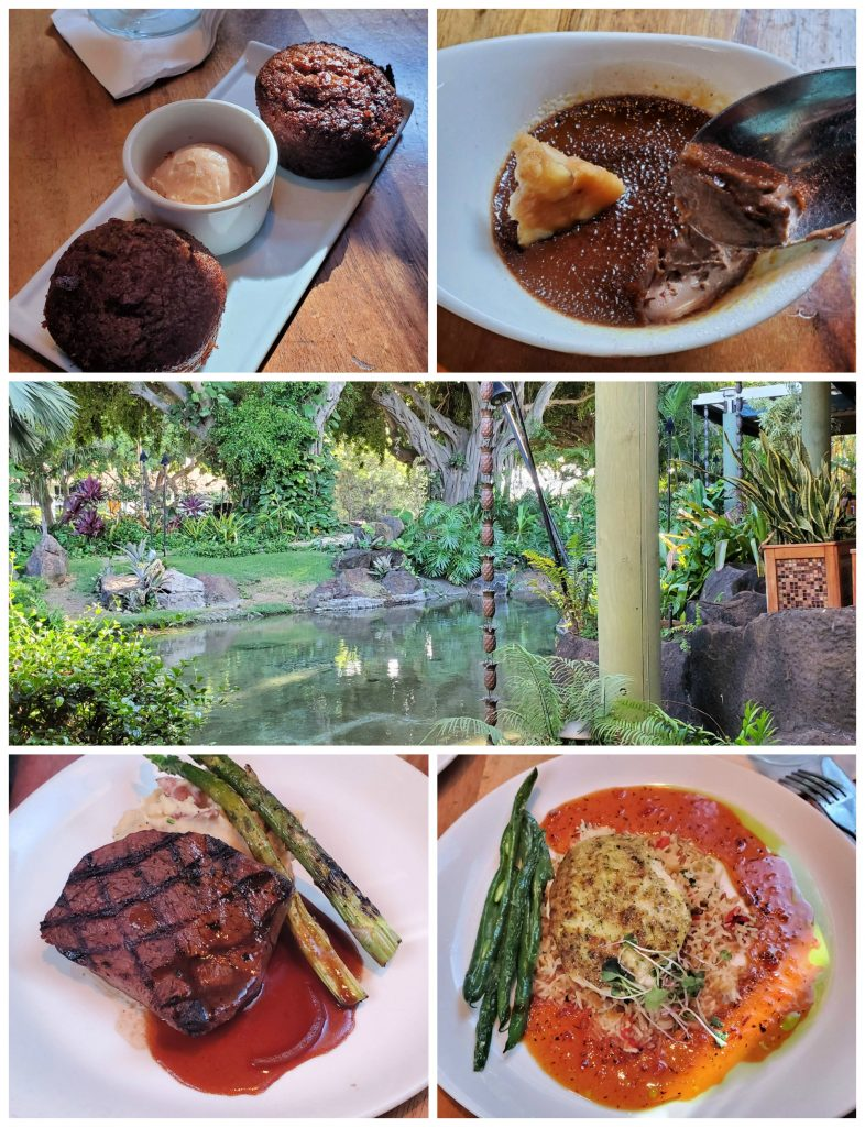Knowing where to eat (and not eat) on Kauai will save you a lot of time and money, plus you'll have a happy tummy! (Keoki's Paradise in Koloa)