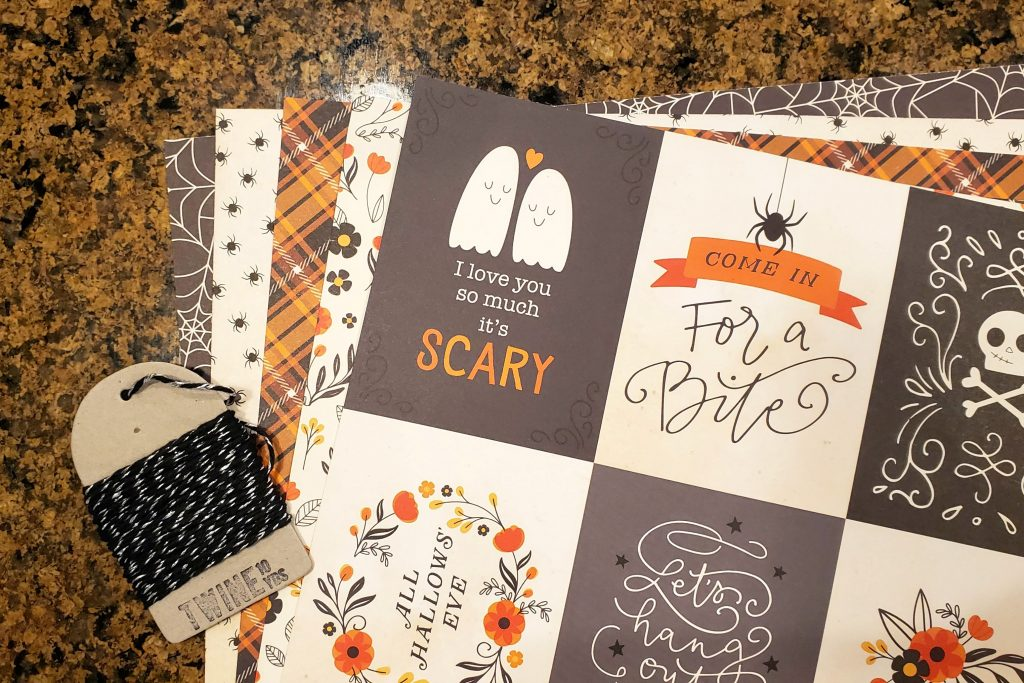 This Halloween banner is made using scrapbook paper I already had on hand and using the Silhouette to cut each piece out helped me put it all together in no time.