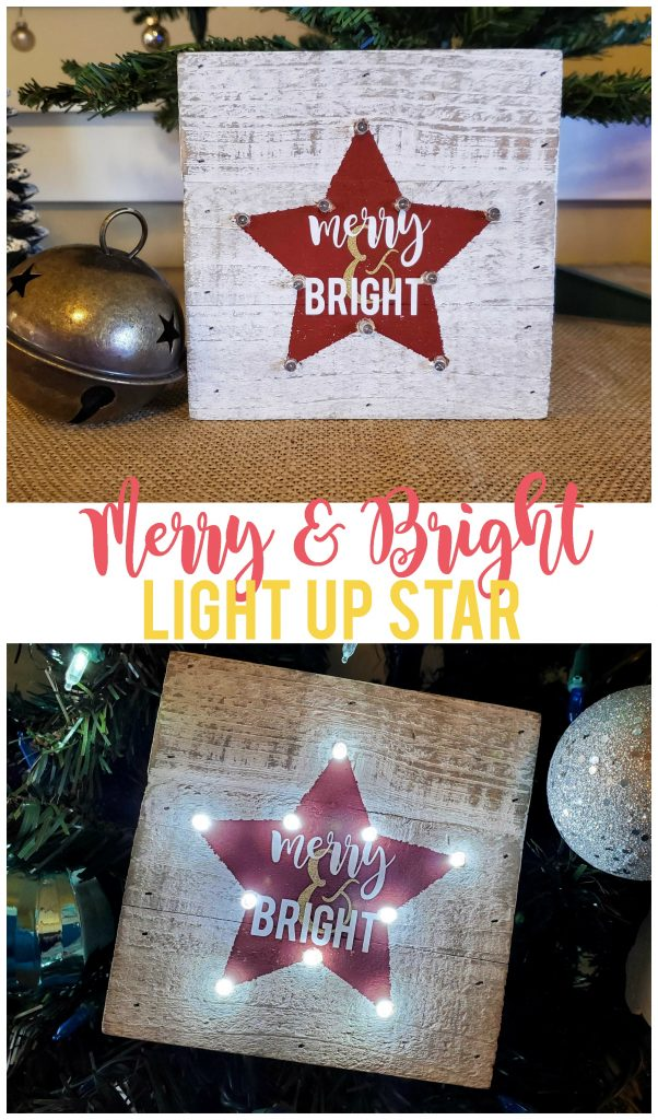 This merry and bright LED light up star is a fun project to add to your Christmas decorations or to give away as a gift!