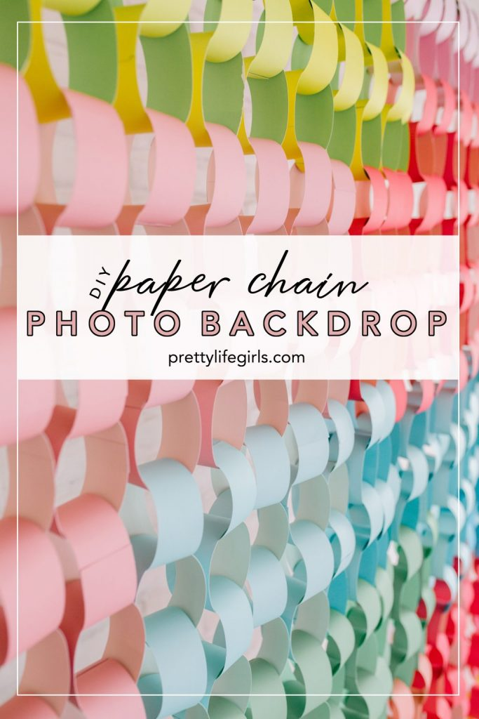 Best Crafts of 2019 all in one post- paper chain photo backdrop