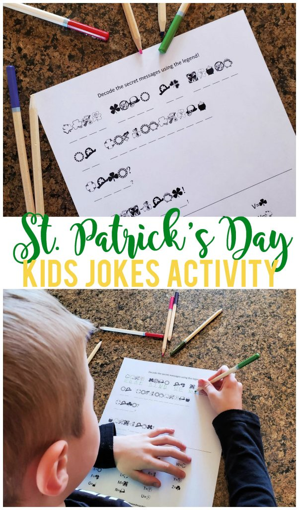 This fun St. Patrick's Day decoding activity will keep your kids busy (and laughing) during the month of leprechauns, rainbows and gold.  Perfect for elementary school aged kids!