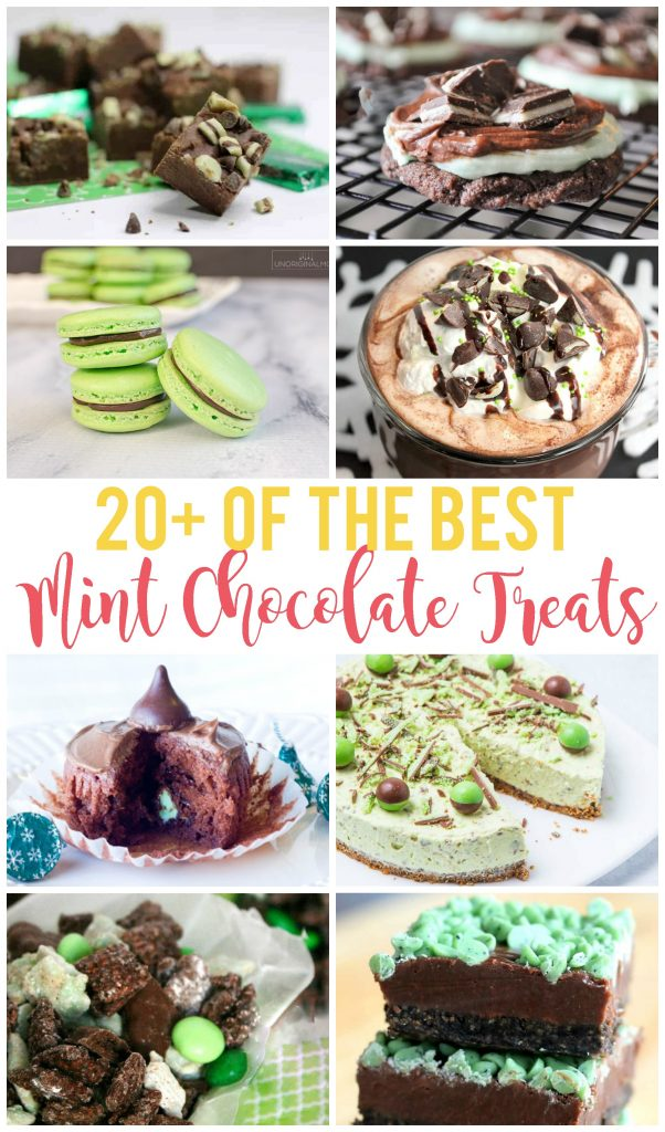 20+ of the best mint chocolate recipes! Cookies, brownies, cold treats and treat to share!