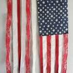 DIY Patriotic Hanging Ribbon Flag