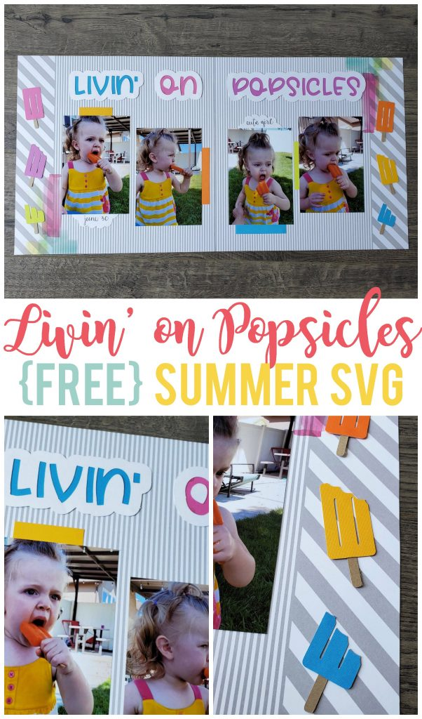 Nothing says summer like popsicles!  Use this fun and free summer SVG file on t-shirts, home decor, scrapbooking and more.  (Plus 11 other free summer SVG files.)