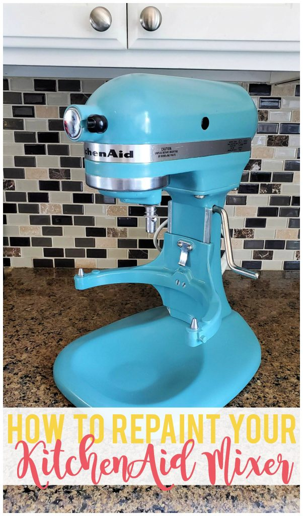 Repaint your old KitchenAid Mixer and give it new life and color with this easy update!  Follow these steps to ensure a great result.