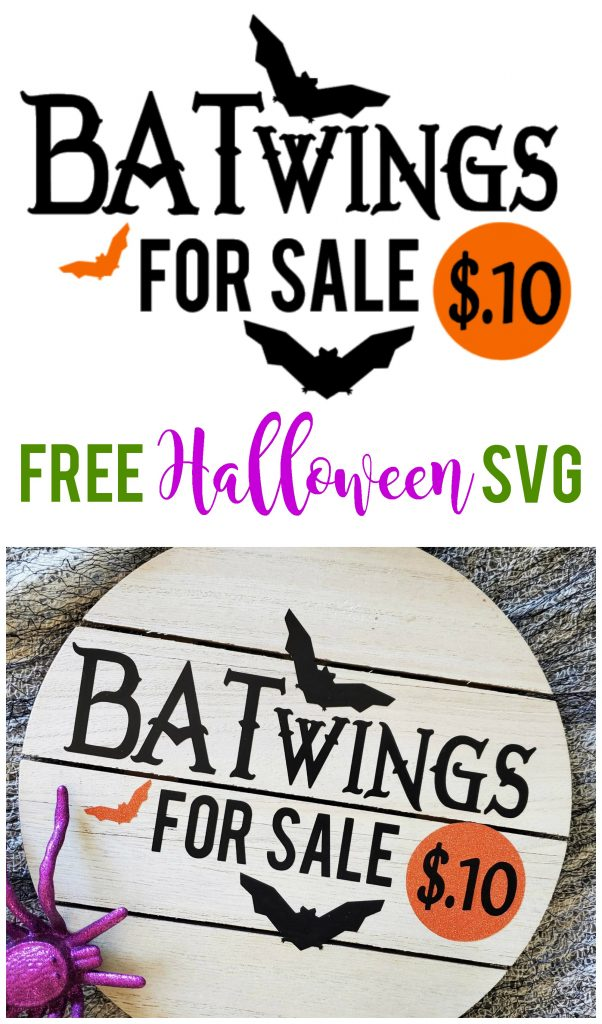 This free Halloween SVG file is the perfect way to add a little spooky fun to your decorations.  Use this cut file for decor, shirts and more!