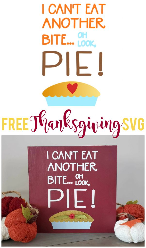 This FREE Thanksgiving SVG file is perfect for adding some humor to your holiday!  Make it into a sign, shirt or scrapbook page.