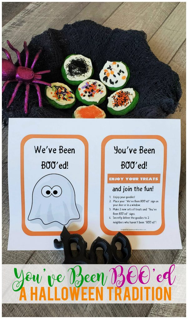 You've Been BOO'ed is a family tradition that involves giving treats and goodies to your friends and neighbors--all in the name of non-spooky Halloween fun!  Grab the free printable here!