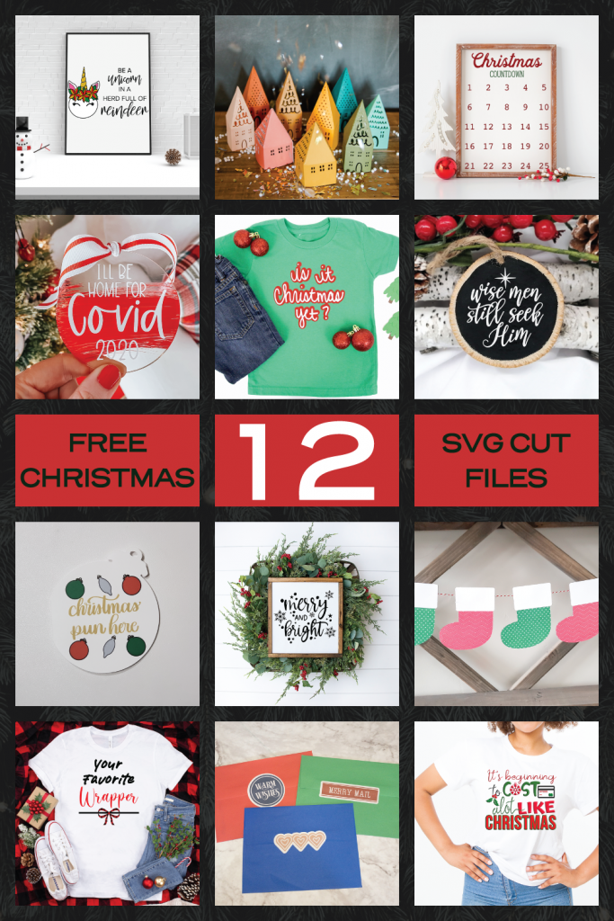12 FREE Christmas SVG cut files!