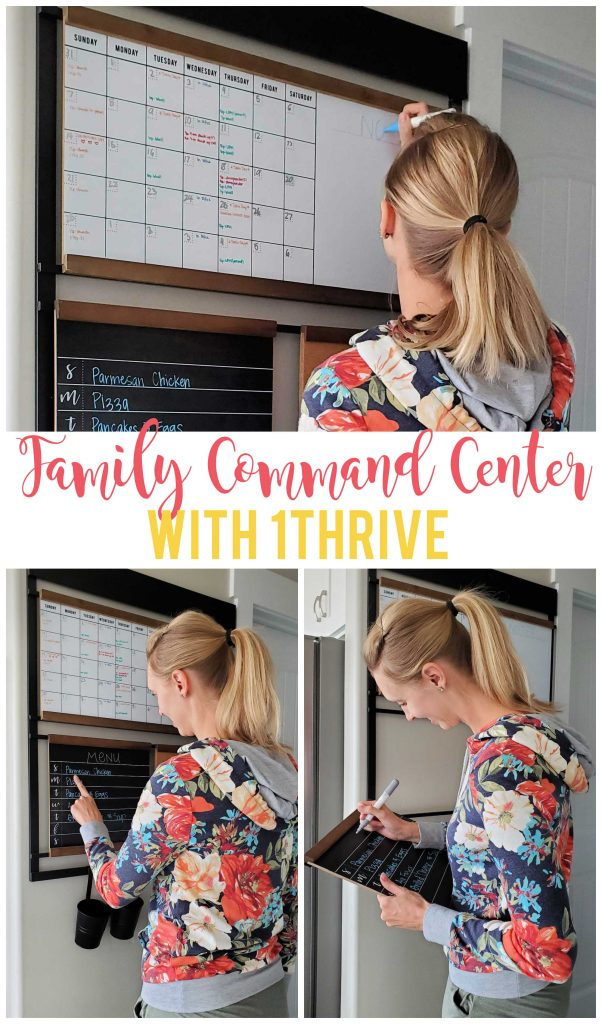 The 1THRIVE family command center is the perfect solution for organizing your life in a stylish and customizable way.
