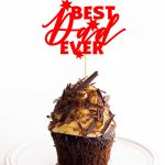 Best Dad Ever Cake Topper {FREE} Father's Day SVG