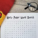 {FREE} Harry Potter Word Search Printable