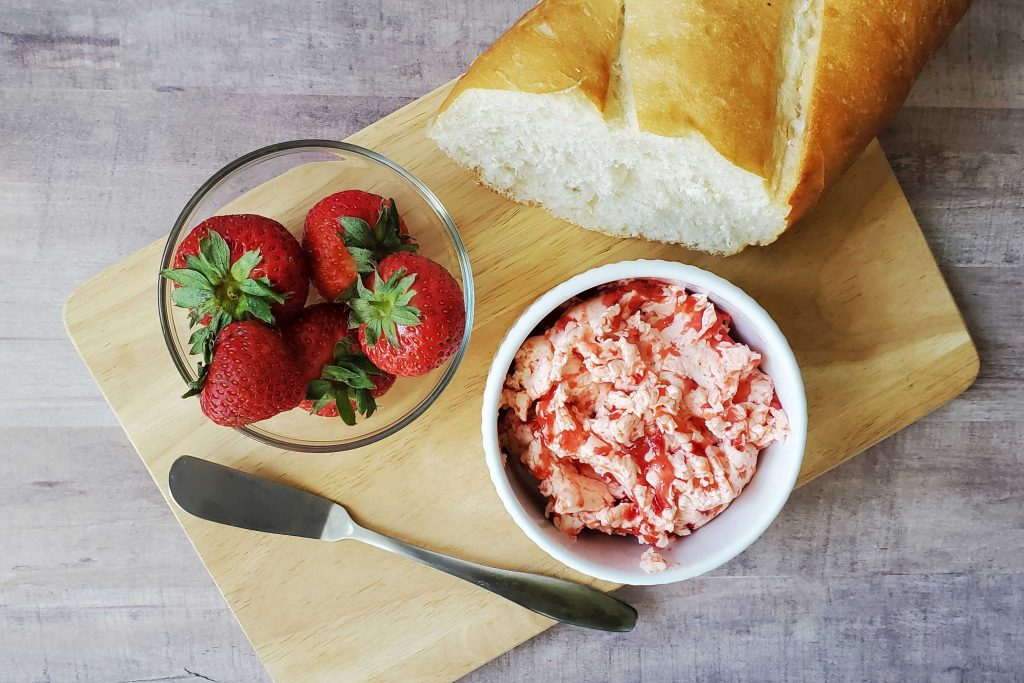 Got berries that need to be used up?  Make this easy and delicious berry butter!  Perfect for toast, bagels and even muffins.