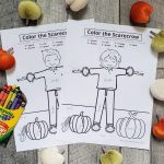 {FREE} Fall Scarecrow Math Coloring Pages