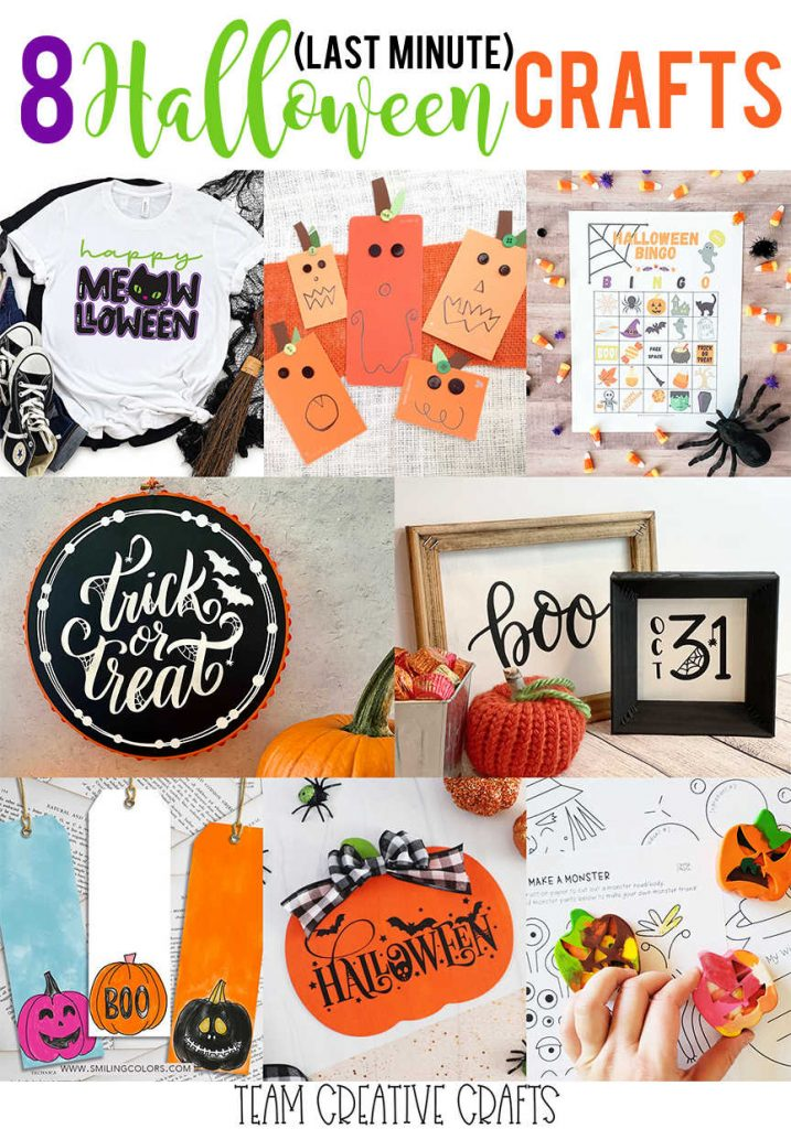8 last minute Halloween crafts and prinables