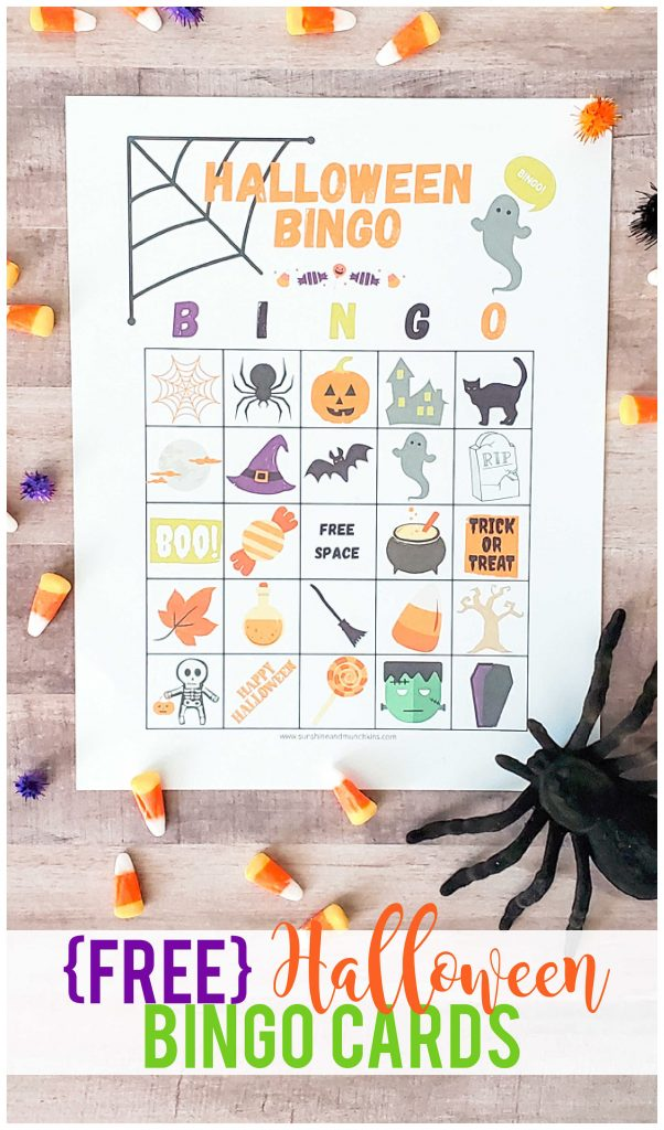 These {FREE} Halloween BINGO cards are perfect for toddlers, preschoolers, older children and even as a family activity!